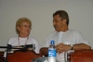Neide Gomes (Comissão Paulista de Folclore) e Toninho Macedo (Abaçai Cultura e Arte), principais mentores do Fefol-raiz