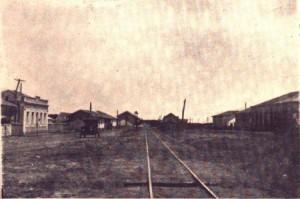 O povoado de Álvora, com seus trilhos